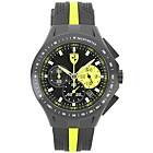 more details on Scuderia Ferrari Mens' Race Day Black and Yellow Strap Watch
