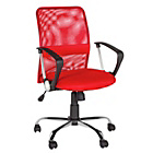 more details on Mid-Back Gas Lift Mesh Chair - Red.