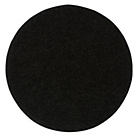 more details on Circular Shaggy Rug 100 x 100cm - Black.