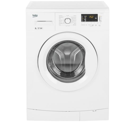 buy beko wmb61432w 6kg 1400 spin washing machine white. Black Bedroom Furniture Sets. Home Design Ideas