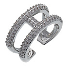 more details on Rhodium Plated Shimla Cubic Zirconia Bar Ring.