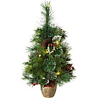 Pre-lit Snow Tipped Christmas Tree - 2ft.