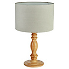 more details on Heart of House Ashbourne Wooden Table Lamp - Natural.