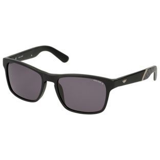 Police S1858 CRYPTO 2 Rectangular Men's Sunglasses - Semi Matt Black