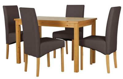 Buy HOME Lincoln Solid Wood Table amp 4 Skirted Chairs  : 4026499RSETTMBampwid620amphei620 from www.argos.co.uk size 620 x 620 jpeg 24kB