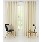 more details on Calico Slot Top Curtains - 66x90cm - Cream.