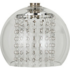 more details on Glass Beaded Pendant Shade - Clear.