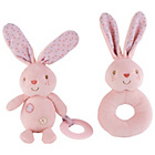 more details on Chad Valley Baby Ring and Teether Pink Bunny.