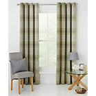 more details on Heart of House Angus Eyelet Curtains 168 x 183cm- Soft Green