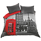 more details on HOME London Phonebox Bedding Set - Double.