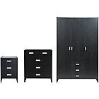 more details on New Capella 3 Piece 3 Door Wardrobe Package-Black Ash effect