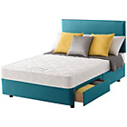 more details on Layezee Calm Micro Quilt Double 2 Drawer Teal Divan Bed.