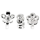 more details on Sterling Silver Plum Flower Beads - Set of 3.
