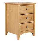 more details on Grafton 3 Drawer Bedside Chest Solid Pine - Oak Stain.
