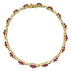 more details on 9ct Gold Ruby and Diamond Bracelet.