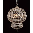 more details on Morocco Crystal Beads 3 Bulb Light Fitting - Satin Nickel.
