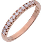 more details on Rose Gold Plated Silver Cubic Zirconia Eternity Ring.