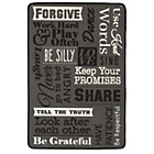 more details on Family Rules Rug 80 x 120cm - Black.