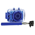 more details on Vivitar 5.1MP DVR781 Selfie Stick Bundle - Blue.