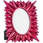 more details on Premier Housewares Floral High Gloss Raspberry Photo Frame.