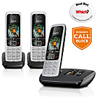 more details on Gigaset A220A X2 Cordless Telephone TAM - Black.