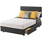 more details on Layezee Calm Micro Quilt Double 2 Drawer Divan Bed.