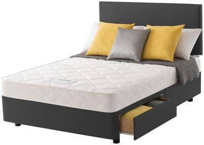 divan base argos ~ buy layezee calm micro quilt double 2 drawer divan bed at