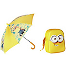 more details on Minions Backpack and Umbrella - Yellow.