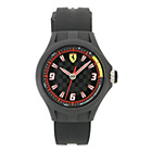 more details on Scuderia Ferrari Mens' Pit Crew Slim Black Strap Watch.