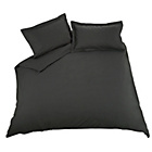 more details on Heart of House Non Iron Percale Black Fitted Sheet - Double.