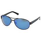 more details on Police Matt Black Oval Aviator with Blue Mirror Lens.