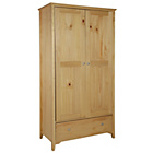 more details on Grafton 2 Door 1 Drawer Wardrobe - Oak Effect.