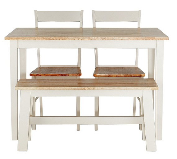 Buy Collection Chicago Dining Table Bench 2 Chairs Two Tone At Argos