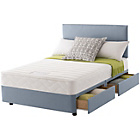 more details on Layezee Calm Memory Micro Quilt Double 4 Drawer Divan Bed.