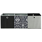 more details on Set of 3 Storage Boxes - Damask.