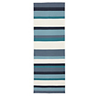 more details on Cotton Stripe Rug 150 x 80 - Blue.
