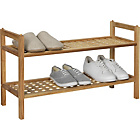 more details on Collection Sherwood 2 Shelf Stackable Shoe Storage - Walnut.