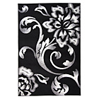 more details on Finesse Black and Grey Rug - 120 x 170cm.