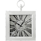 more details on Premier Housewares White Metal Vintage Look Wall Clock.