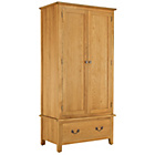 more details on Heart of House Cheshire 2 Door 1 Drawer Wardrobe.
