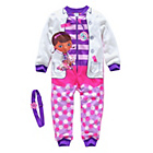 more details on Doc McStuffin Girls' Fleece Onesie with Headband - 3-4 Years