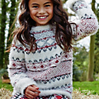 more details on Cherokee Girls' Fluffy Fairisle Jumper.