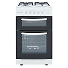 more details on Cookworks CGT50W Gas Cooker - White/Exp.Del.