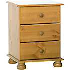more details on Richmond 3 Drawer Bedside Chest - Antique Pine.