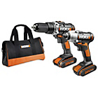 more details on Worx Twin Pack Combi Drill and Impact Driver - 20V.
