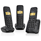 more details on Gigaset A120 X3 Cordless Telephone TAM - Black.