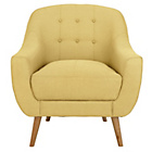 more details on Hygena Lexie Fabric Chair Lemon Yellow.