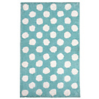 more details on Large Polka Dots Bath Mat - Blue.