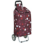 more details on 2 Wheel Polka Dot Shopping Trolley - Purple.