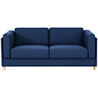 more details on Habitat Colombo Fabric 3 Seater Sofa Bed - Blue.